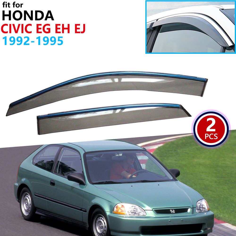 for 92 93 94 95 Honda Civic Hatch 2Dr//3Dr Side Window Visors Rain Guard EG SI