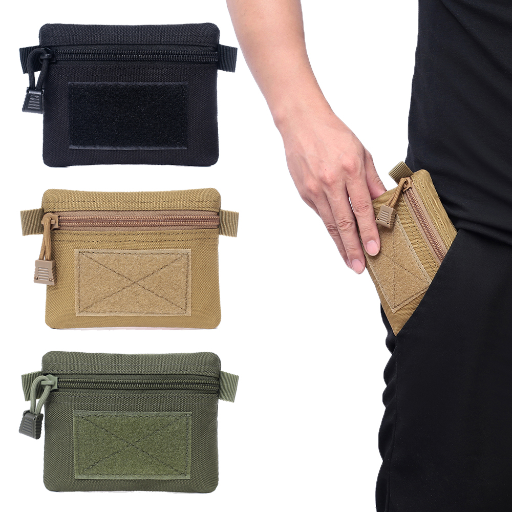 Tactical Wallet Bag 1000D Card Key Holder Portable Purse Pouch Money Pack Multifunction Accessory Pocket For Hunting Camping