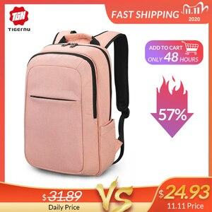 Image 1 - Tigernu Women Fashion 15.6inch USB Recharging Men Backpacks Anti theft Girl Female Laotop Backpacks For Women 2020 For Teenager