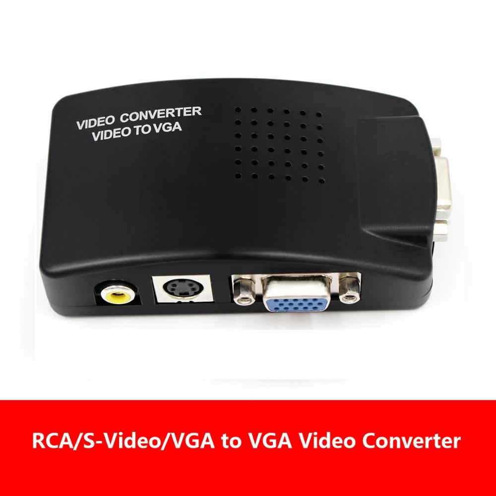 AV2VGA S-Video Composite RCA Chuyển Đổi Video Convertor Hộp AV RCA CVBS to VGA Sang Video Conversor cho đến HDTV PC Converte