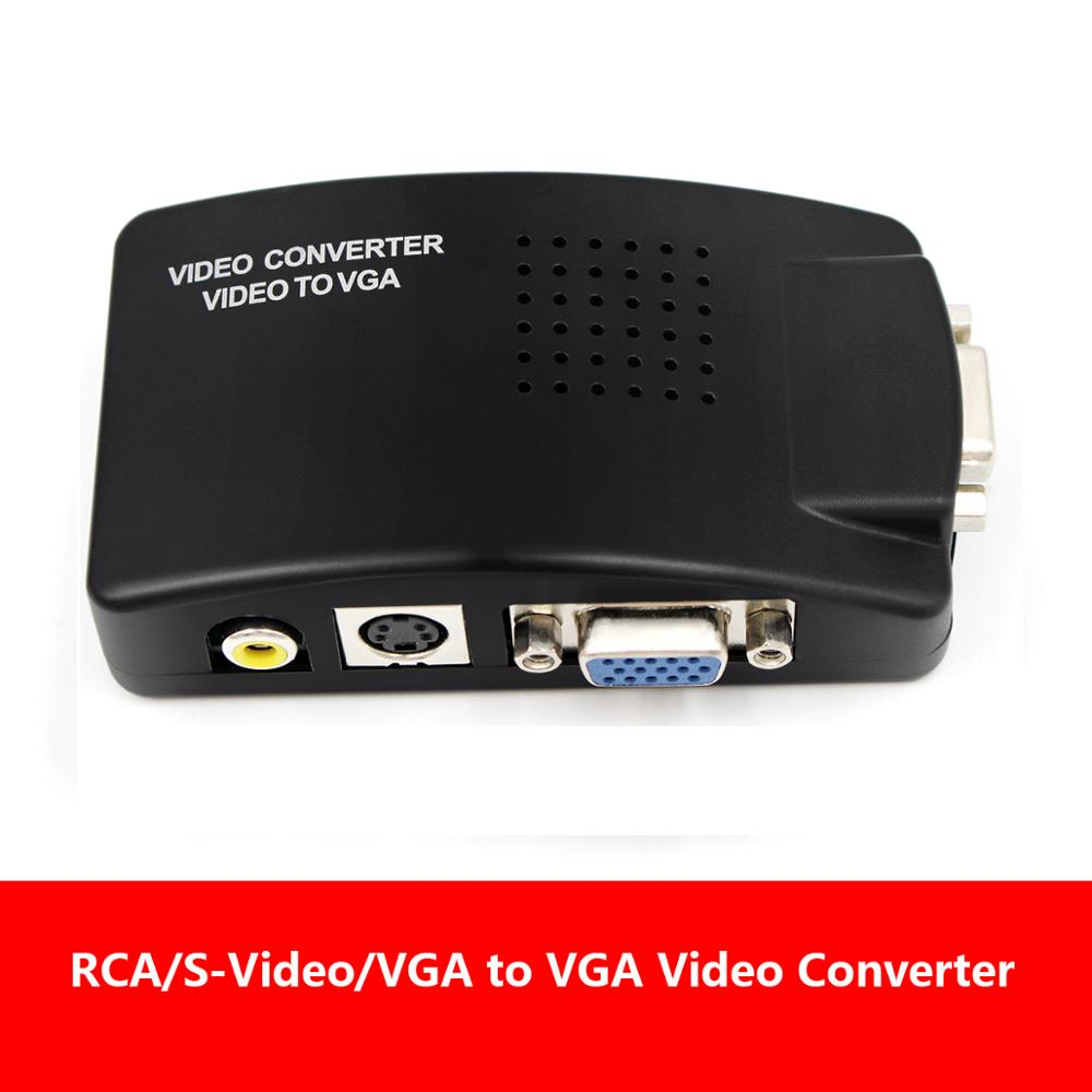 AV2VGA S-video Composite RCA Video Converter Convertor Box AV RCA CVBS To VGA Video Converter Conversor For To PC HDTV Converte