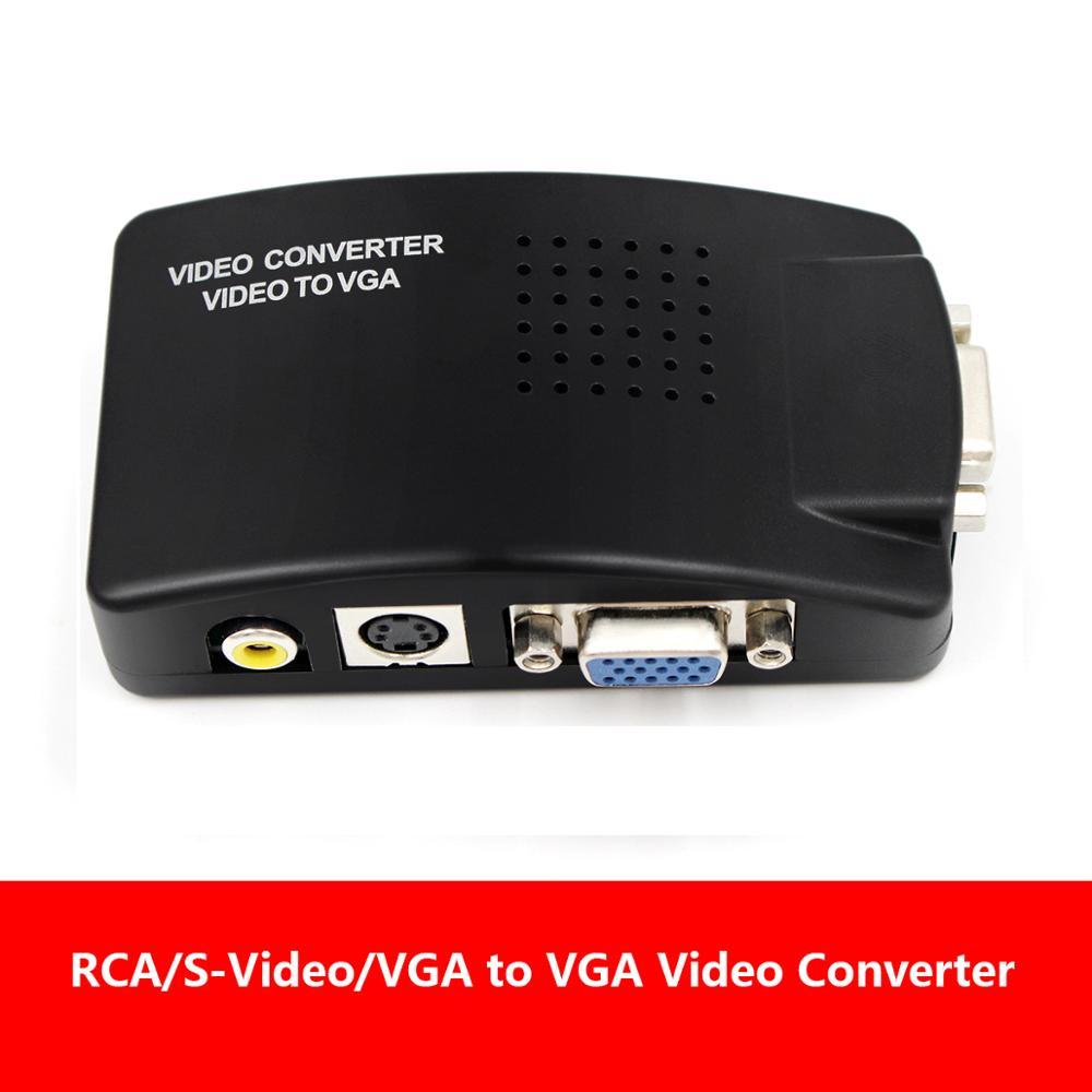 AV2VGA S-video Composite RCA Video Converter Convertor Box AV RCA CVBS To VGA Video Converter Conversor For To PC HDTV Converte