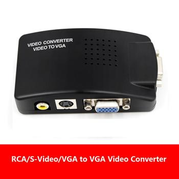TV to PC Composite RCA/S-Video to VGA Video Converter Box HD Video and Audio  Adapter Converter Wide Screen for DVD DVR VCR Moni недорого