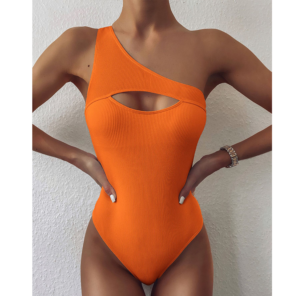 EVISPORTS 2021 Новый Цельный купальник женский купальный костюм сексуальный купальник пуш-ап женский Монокини оранжевая пляжная одежда
