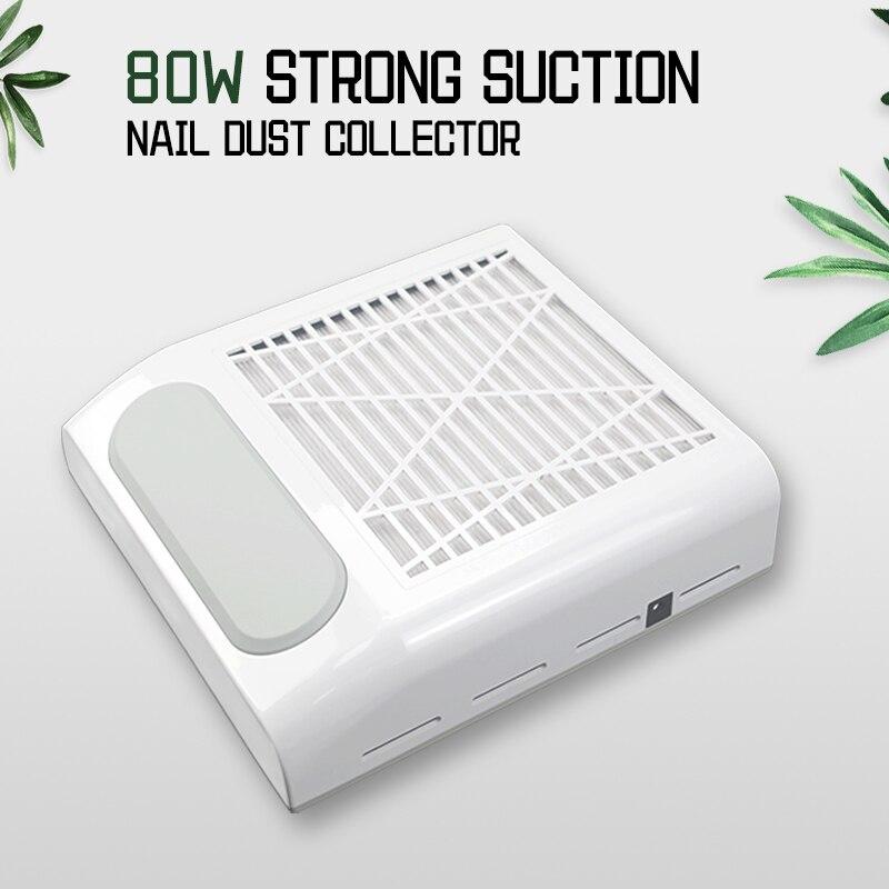 80 Вт ногтей пылесборник вентилятор пылесос, машинка для маникюра, инструменты с фильтром сильный Мощность инструмент искусства ногтя пылесос 6