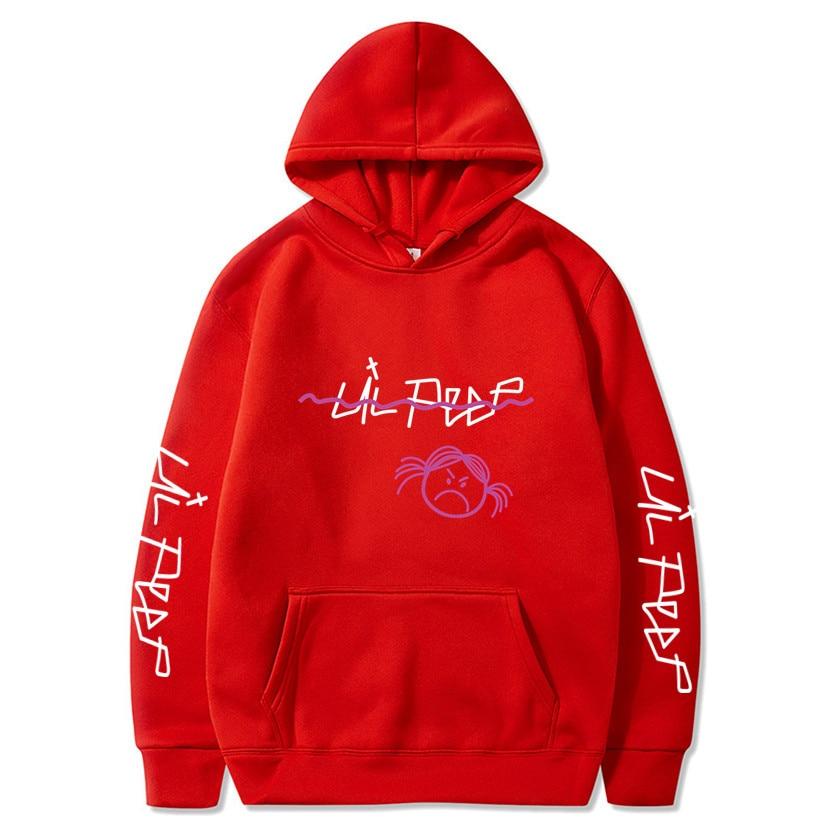 Lil Peep Hoodies Love Lil.peep Red Sweatshirts Hooded Pullover Sweatershirts Male/Women Sudaderas Cry Baby Streetwear Hoodie Men