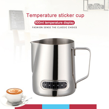 600Ml Milk Frothing Jug With -In Thermometer Stainless Steel Creamer Frothing Pitcher Espresso Coffee Latte Pots
