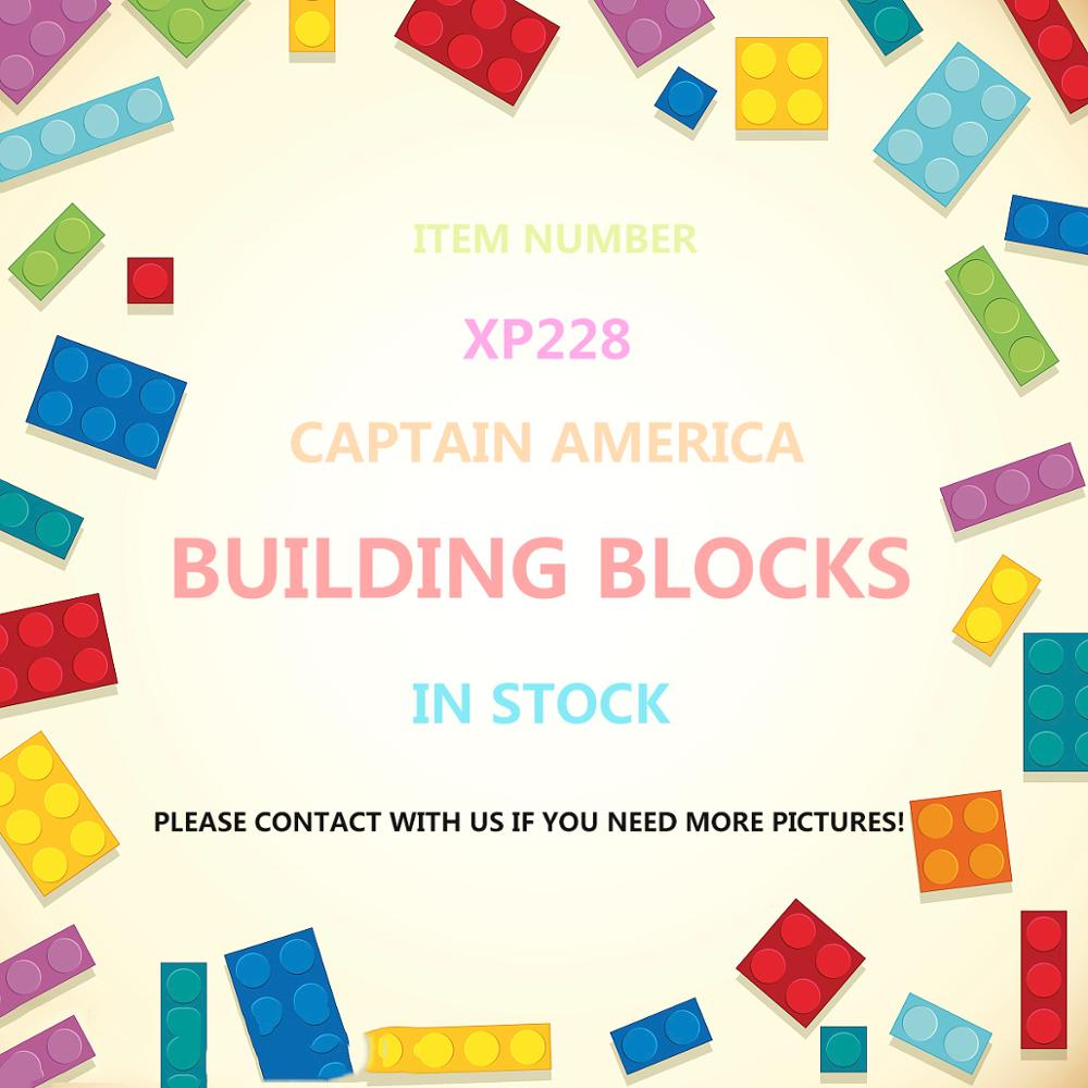 Single Damaged Captain America Super Heroes Avengers Endgame Action Steve Rogers Building Blocks Gifts For Children Toys XP228