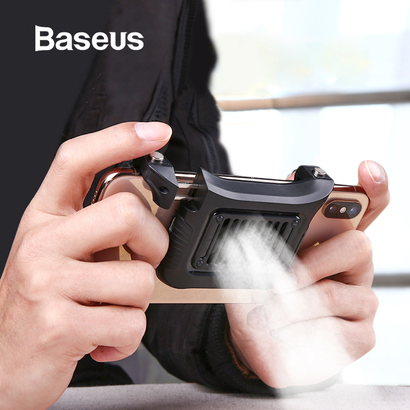 Baseus Mobile Phone Cooler For IPhone Xs Max Xs XR Game Shooter Controller For Samsung Huawei 4.7-6.5inch Phone Accessories