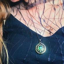 Женская цепочка с подвеской pretty green water drop модное медное