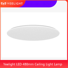 Yeelight luz LED de techo para sala de estar, control remoto, aplicación inteligente, WiFi, Bluetooth, Google Home, 480