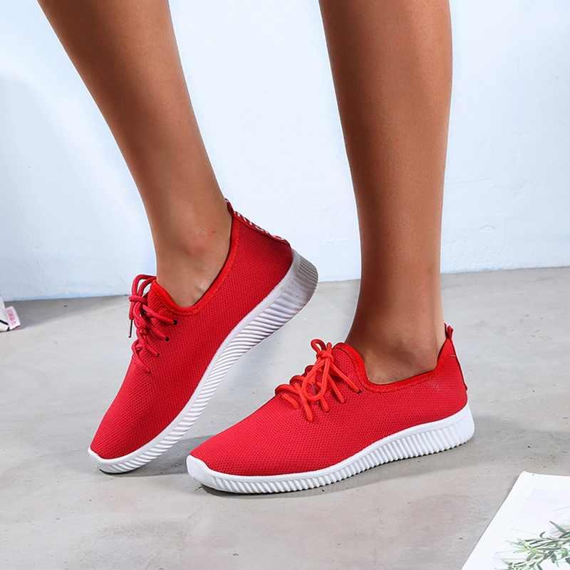 女性通気性ランニングシューズノンスリップスポーツ女性スニーカー女性屋外靴 2019 メッシュ軽量ランニングシューズ
