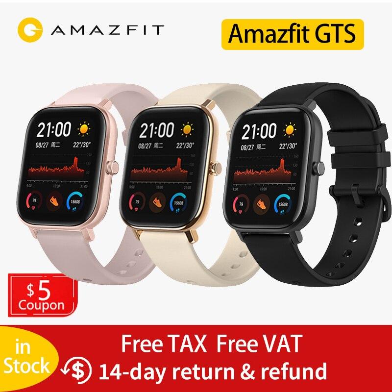 Глобальная версия умных часов Huami Amazfit GTS 5ATM, водонепроницаемый 14 дневный аккумулятор, GPS управление музыкой, как Apple watch Xiaomi|Смарт-часы|   | АлиЭкспресс