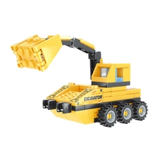 Строительные блоки, трансформация инженерных транспортных средств, инфрастуктура, сумасшедшие строительные блоки, детские головоломки, игрушки DIY 802B