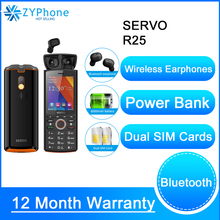 CellPhones Original Phone SERVO R25 2 8inch Dual SIM Card Mobile Phone with Bluetooth 5 0 TWS Wireless Earphones Power Bank GPRS cheap BLACKVIEW Detachable 128M Others Up To 200 Hours NONE ≤1MP 6000 Nonsupport Feature Phones Not Touch Screen English