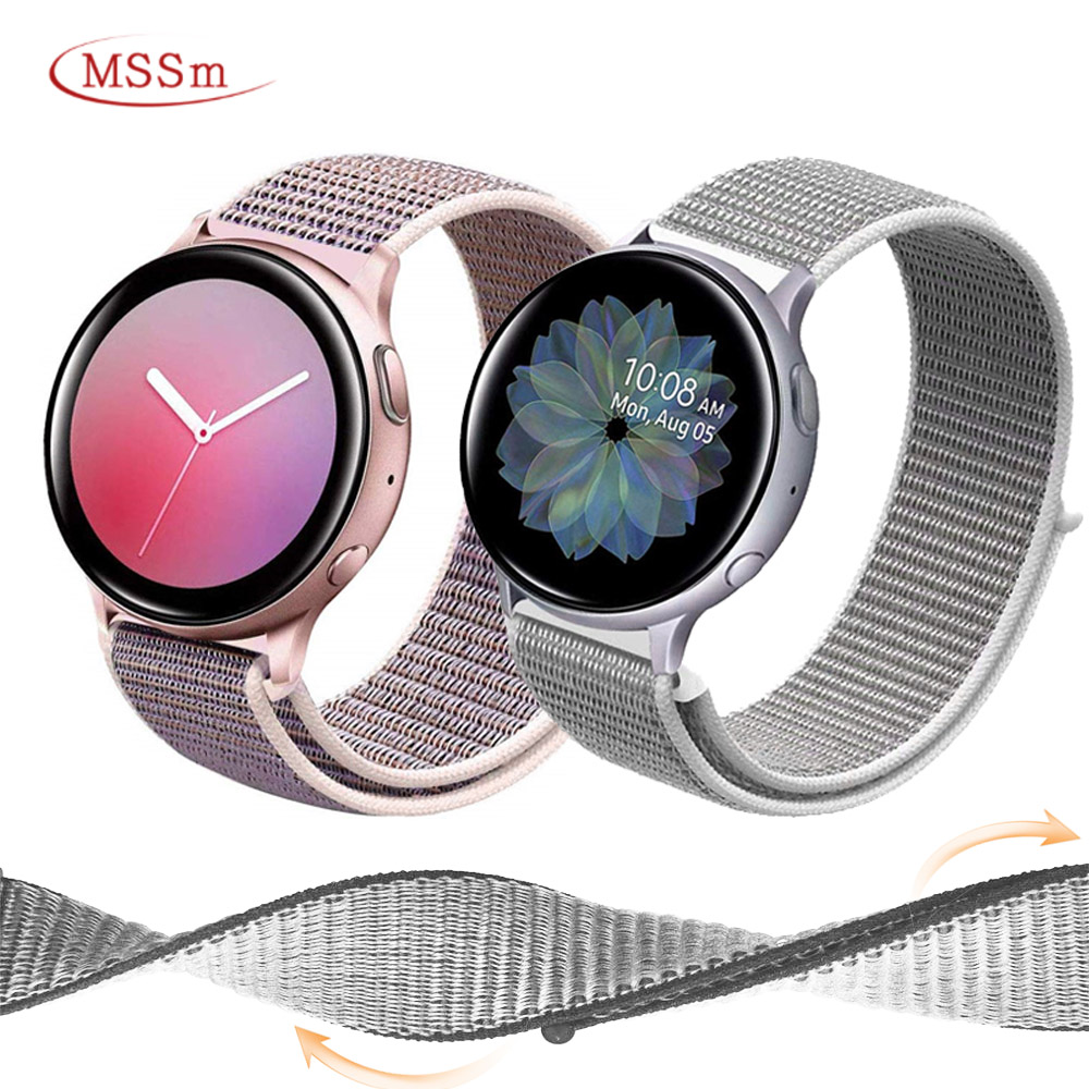 Nylon Watch Strap For Samsung Galaxy Watch Active 2 42mm 46mm Band Gear S3 Frontier Soprt Correa For Amazfit Bip For Huawei 22mm