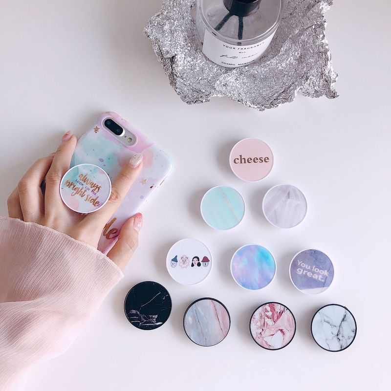 3D Cartoon Round Mobile Phone Holder Anti-Drop Finger Ring Stand Bracket Mount For IPhone X XS XR 8 7 6s Samsung All Phone New