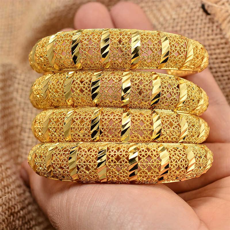 Annayoyo האתיופית זהב צבע צמיד לנשים דובאי הכלה חתונת צמיד אפריקאית הערבי תכשיטי מזרח התיכון