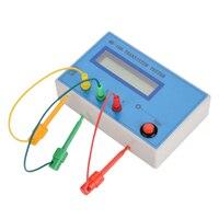 Mk 168 tester próbnik elektroniczny dioda trioda odporność pojemności Esr Rlc Npn Pnp Mos miernik w Mierniki rezystancji od Narzędzia na