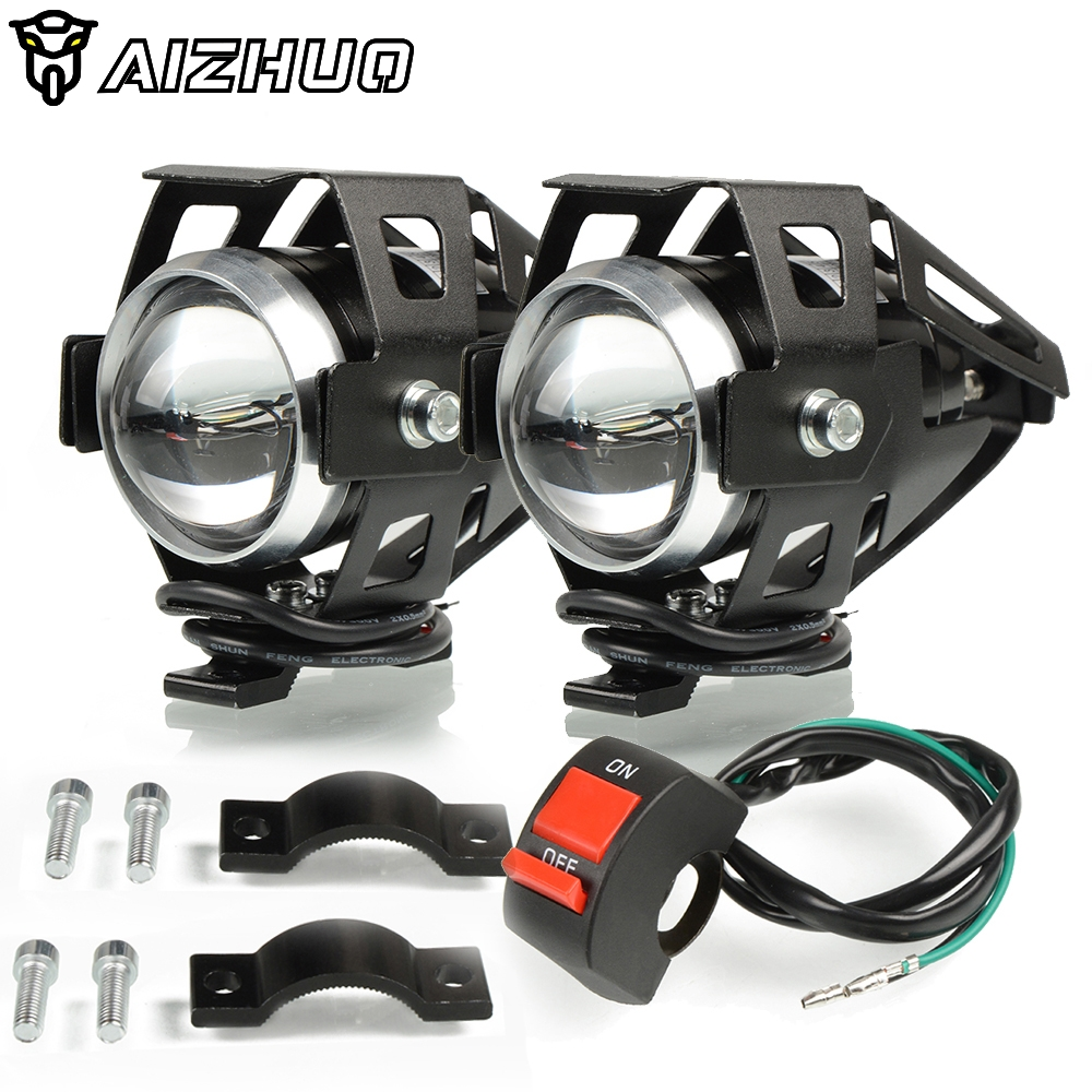 Motorcycle Headlights U5 Headlamp Spotlights Fog Head Light For HONDA XLV 600 650 700 TRANSALP NX 650 FMX 650 XRV650 TRX 300EX