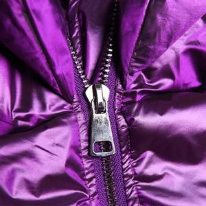 Image 4 - Winter Thick Women Jacket Cotton Padded Warm Girls Loose Fit Hooded Parka Female Big Pockets Coat Short Style Irregular Hem