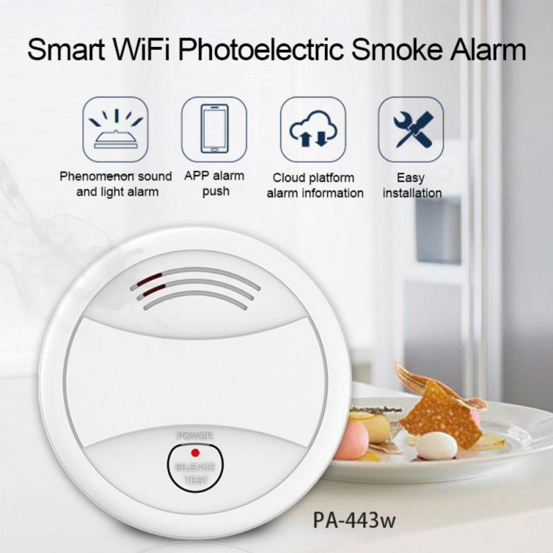 Practical WIFI Smoke Detector Intelligent Smoke Alarm Home Independent Hotel Smart Life Intelligent Smoke Alarm