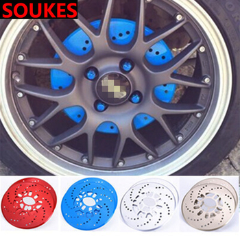 2pcs Car Tire Wheel Hub Brake Decoration Cover For Volkswagen VW Polo Passat B5 B6 CC Golf 4 5 6 Touran T5 Tiguan Bora Scirocco image