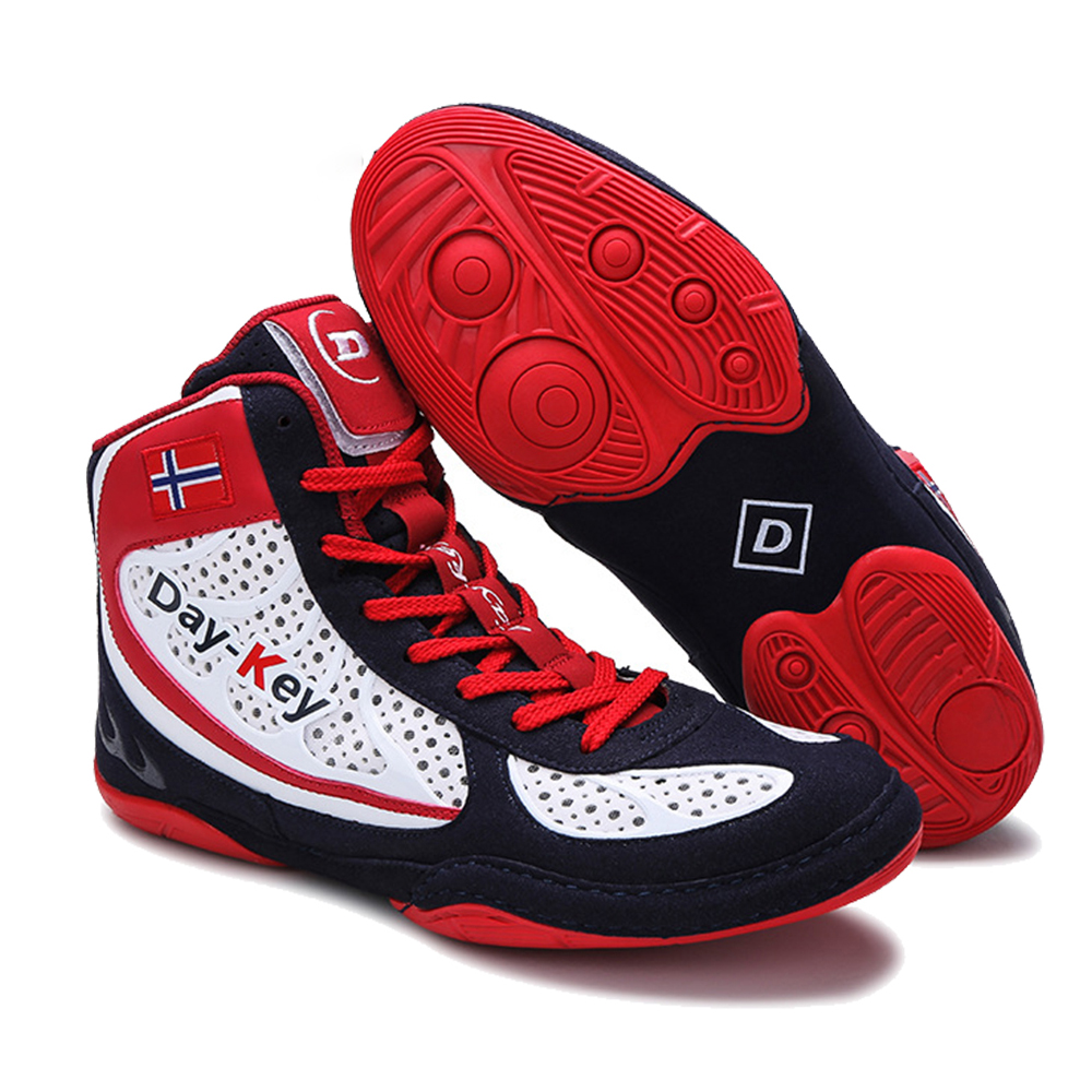Authentic Wrestling Shoes For Men Training Shoes Professional Boxing Shoes Sneakers Scarpe Boxe Uomo Size 39-45