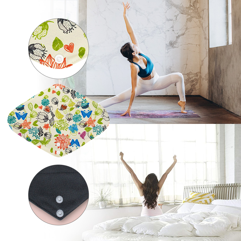 New Women Panty Liner Napkin Cloth Reusable Sanitary Hygiene Heavy Period Washable Charcoal Flow Bamboo Soft Towel Mestrual Pads