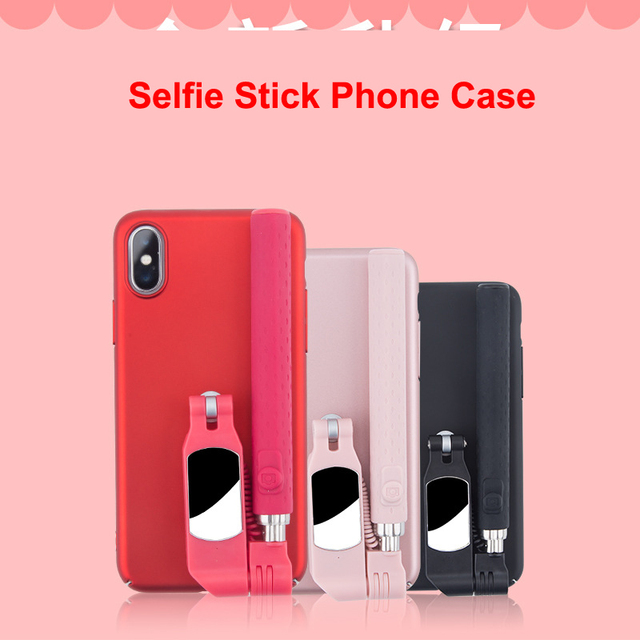 Bluetooth Selfie Stick Case for iPhone 11 Pro XS MAX XR X 8 7 6 6S Plus SE 2020 Case Portable Foldable for Apple 11 Cover Funda