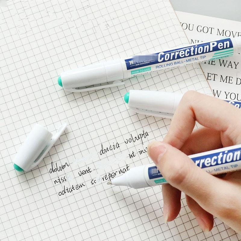 Correction Pen Quick-drying Correction Fluid White Erasure Pen Type Protection Correction Tape Writing Corrector Pens Stationery