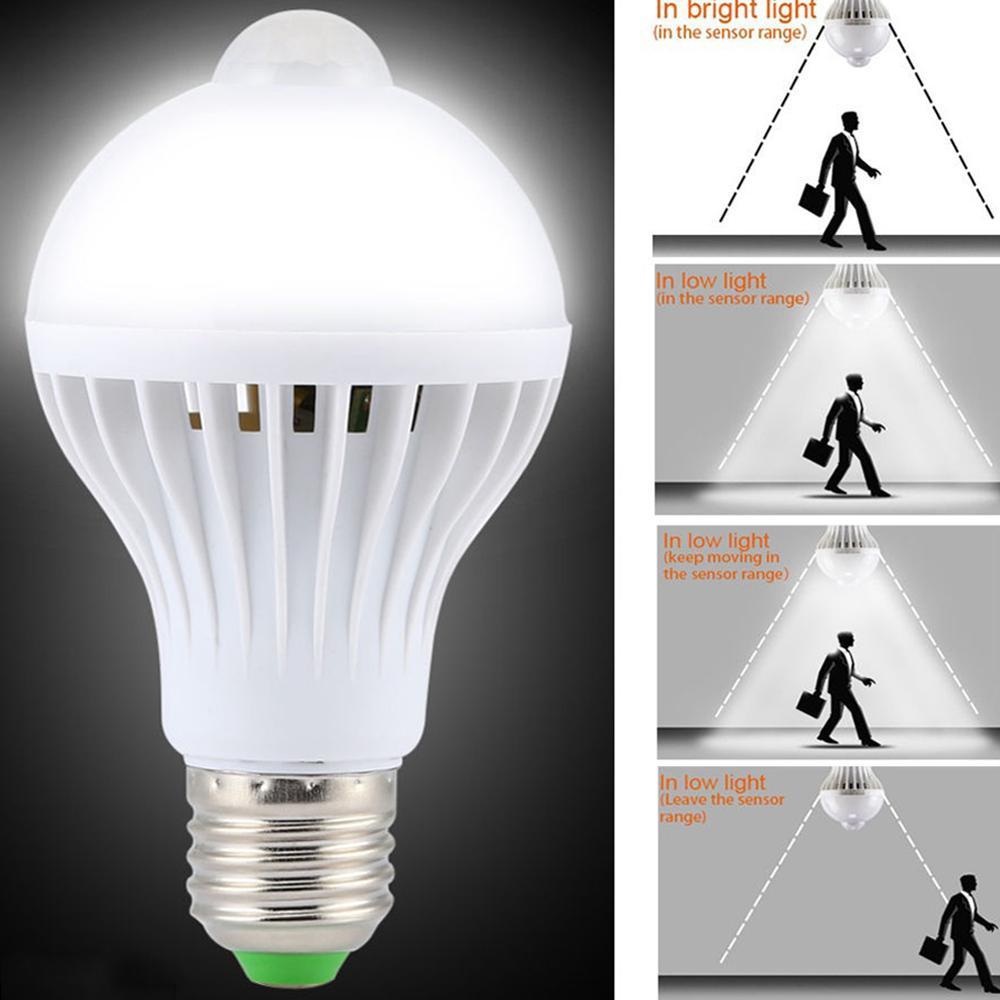 Permalink to Smart PIR Motion Sensor LED Lamp Night Lights 5W E27 Movement Detection Sensor Induction Bulb For Stair Hallway d2