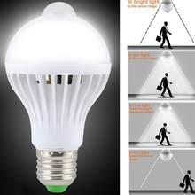 Умная светодиодсветодиодный лампа с пассивным инфракрасным датчиком движения, ночник с датчиком движения E27, Индукционная лампа для лестни...