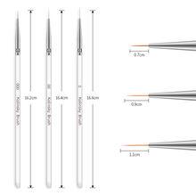 1 Набор кистей для ногтей ручка рисования маслом 3d градиентный