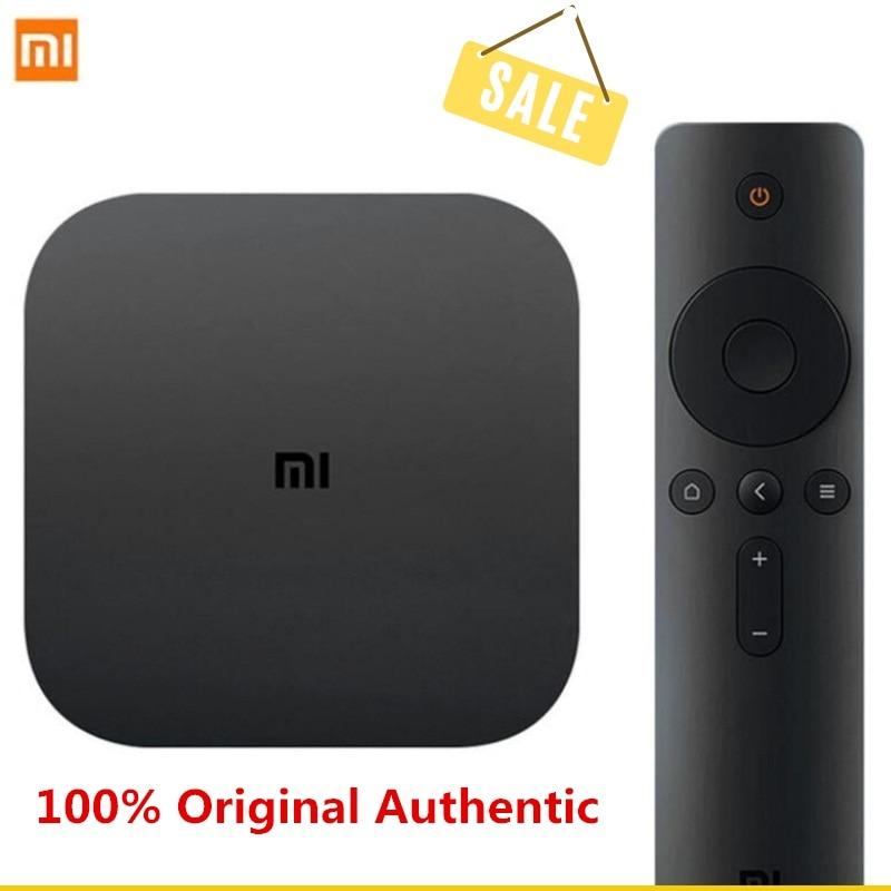 Xiao mi mi TV Box blanc 4 noir 4C 4K TV caja Amlogic Cortex-A53 Quad Core 64bit 1G + 8G DTS-HD 2,4 GHz WiFi USB 2,0 décodeur