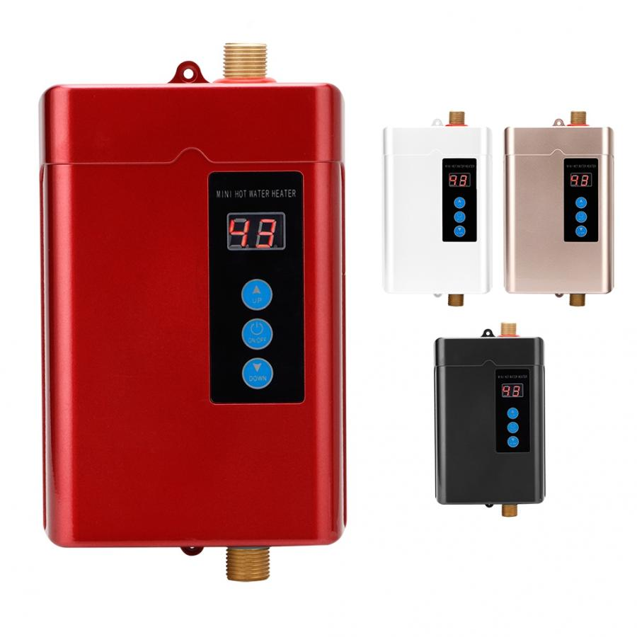 Instant Electric Water Heater Instantaneous Tankless Water Heater Kitchen Bathroom Water Fast Heating 1000W 2000W 3000W 4000W