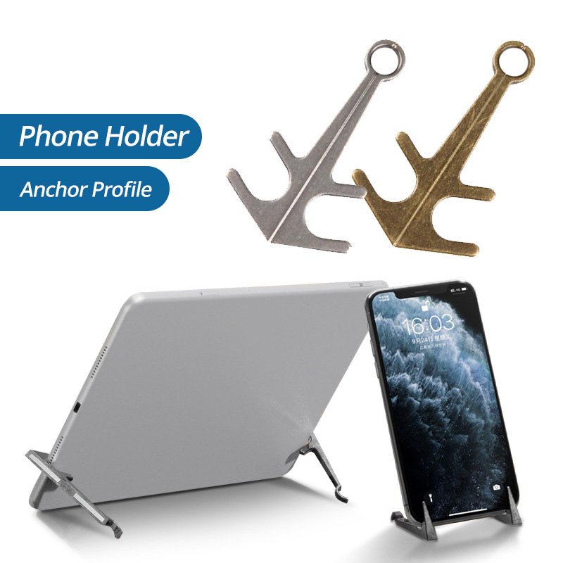 ANMONE Cellphone Stand Magnetic Phone Holder Desktop Anchor Shape Mobile Holder Pairs Magnet Holder For Tablet Phone Accessories