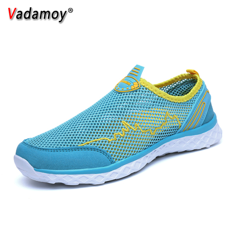 Summer Men Sandals Outdoor Male Slippers Couples Mesh Fashion Beach Quick Dry Wading Upstream Fishing Net Water Casual Men Shoes Islamabad