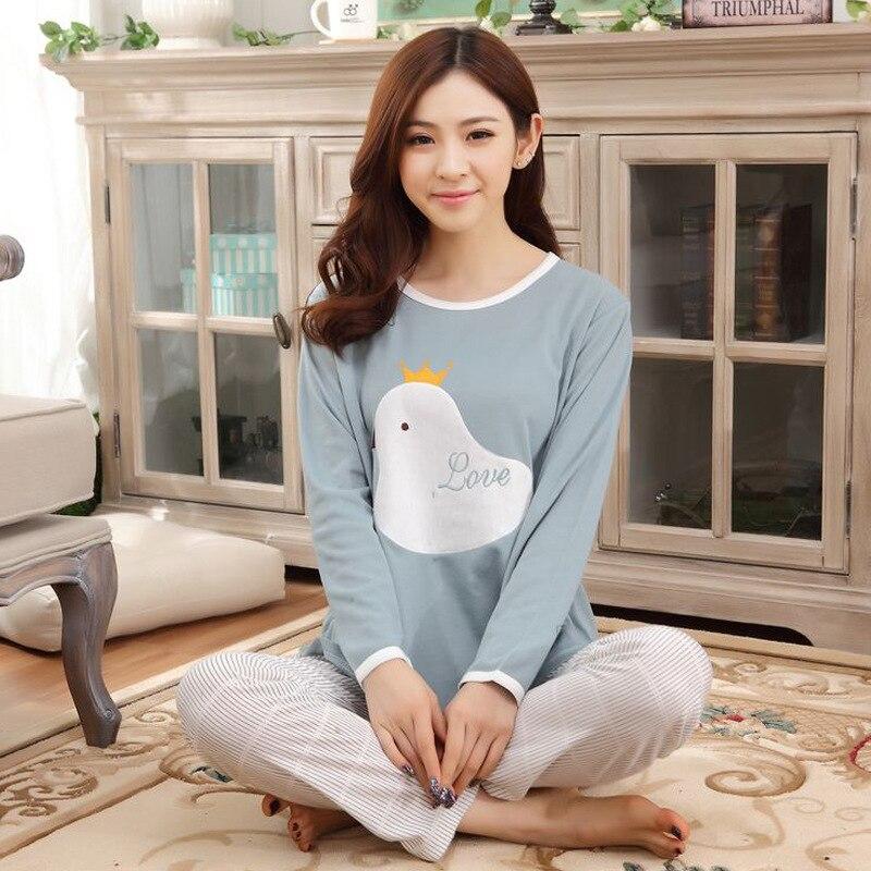 Tracksuit Pajamas 808 # Japanese Korean Korean-style WOMEN'S Long Sleeve Trousers Hoodie Cute Spring And Autumn Cartoon Set 500