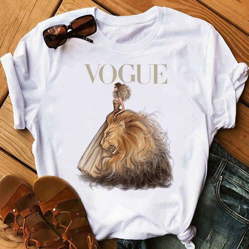 Women Tshirt 2020 Fashion Aesthetic T-shirt Vogue Print Short Sleeve Tops & Tees Fashion Casual T Shirt Harajuku Female Clothes