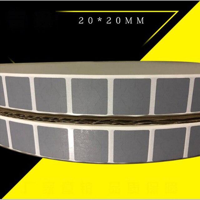 Toptan 27000 adet 20*20mm kare çizik kapalı etiket kullanarak sikke gümüş boş kod kapağı şifre scratch gizli kart