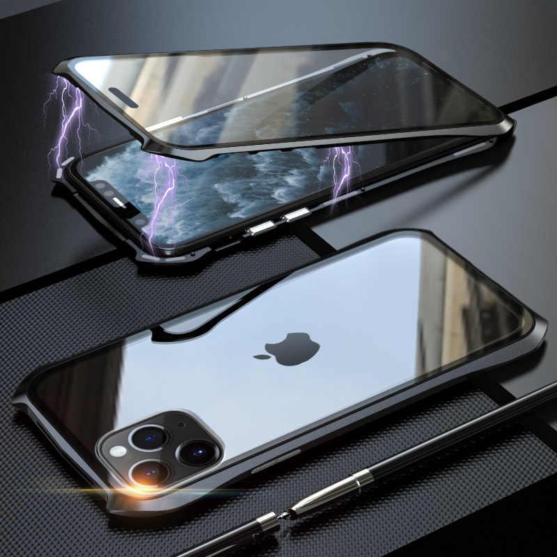 Magnetische Adsorptie Telefoon Batman Case Cover 360 Magnetische Case Voor Iphone 11 Pro Max Case Cover Metal Gehard Glas Case coque