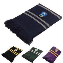 4 шт. школьный шарф Хогвартса Когтевран гермион длинные шарфы Слизерин пуффендуй шейный платок для женщин мужчин мальчиков