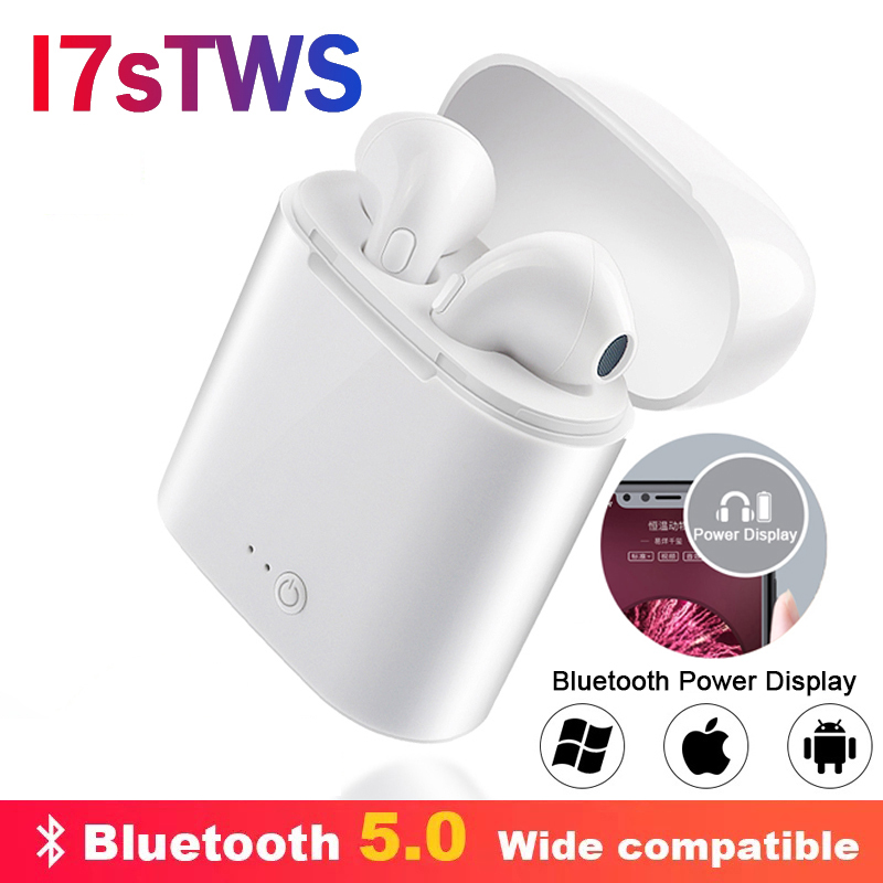 IBESI I7s TWS Wireless Headphones Bluetooth Earphone Sport Stereo Earbud Headset With Charging Box For IPhone Xiaomi Huawei