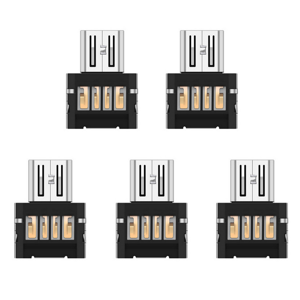 5pcs/lot Mini Micro USB To USB Connector OTG Cable USB OTG Adapter For Xiaomi For Samsung For HuaWei For HTC For OTG Phone