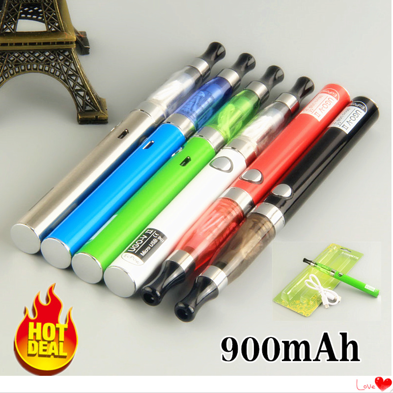 Ugo-V2 II 900mAh Mirco USB Passthrough 510 Thread Battery Electronic Cigarette EGo Ce4 Vaporizer Atomizer Starter Vape Pen Kit