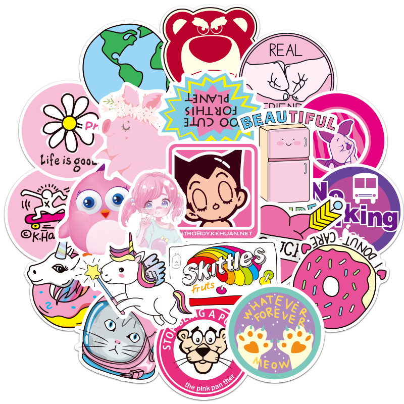 Stickers Sticker Diary Sticker Small Fresh Sticker Suitcase Computer Sticker Cute Sticker Skateboard Sticker MTZ135-138-6