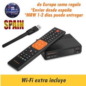 Freesat v7 hd Satellite Receiver gtmedia v7s Decoder gtmedia v7hd Europe Cline for 1 Year 1080P USB Wifi Spain Portugal Channels(China)
