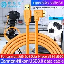 Peresal usb3.0 para micro-b cabo para canhão eos 5d4 5dsr câmera nikon d810 d850 d5 câmera digital para computador/computador portátil cabo de dados