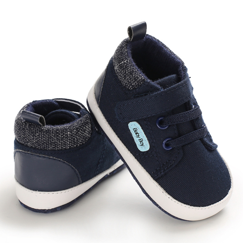 E&Bainel Baby Boy Shoes Classic Canvas Sports Sneakers Soft Sole Anti-slip Newborn Infant Shoes For Boy Prewalker First Walkers
